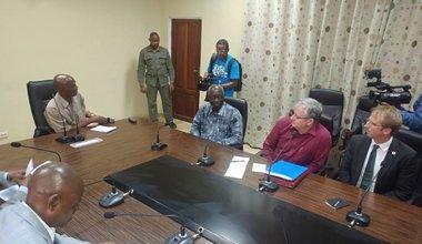 Le Conseiller spécial du Secrétaire général des Nations Unies pour la prévention du génocide, Adama Dieng est en visite à Kananga