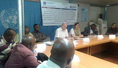 Le BCNUDH et ses partenaires élaborent une feuille de route en matière de violences sexuelles