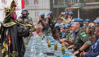 Le Commandant de la Force MONUSCO se félicite du travail accompli par le 21e contingent chinois au Sud-Kivu/Photo MONUSCO/Alain Likota