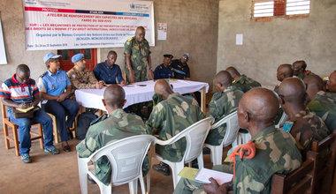 Sud-Kivu : La MONUSCO forme les forces de sécurité sur le respect des Droits de l'Homme. Photo MONUSCO/Alain Likota