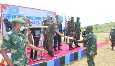 Ituri: MONUSCO has trained more than 650 FARDC officers and troops in combat tactics in the jungle. Photo MONUSCO/Force