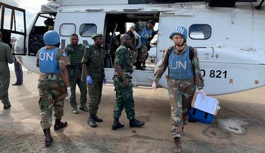 General Thierry Lion in Beni: '' We are amidst sovereign and unilateral operations, prepared by the FARDC ''. Photo MONUSCO/Force