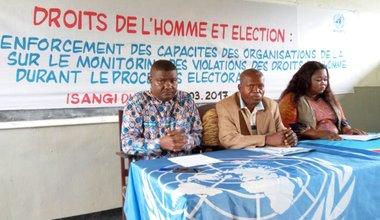Province de la Tshopo : La MONUSCO renforce les capacités des défenseurs des droits de l'homme dans la perspective des prochaines élections