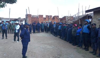Une mission de sécurisation conjointe Monusco-PNC-FARDC au quartier Matonge de Beni