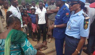 Un enfant de rue agonisant secouru par UNPOL à Kananga