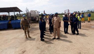 Le Chef de la Police MONUSCO sur le terrain dans l'Est du pays