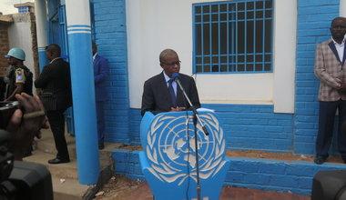 Lubumbashi : Maman Sidikou inaugure un Qips lors de sa toute première visite dans la capitale cuprifère.
