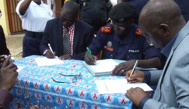 Inauguration of Congolese National Police (PNC) Health Centre constructed by MONUSCO in Rutshuru
