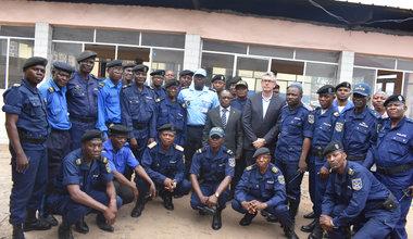 La MONUSCO et la France appuient la Police Nationale Congolaise pour l'utilisation de fichiers criminels. Photo MONUSCO/UNPOL