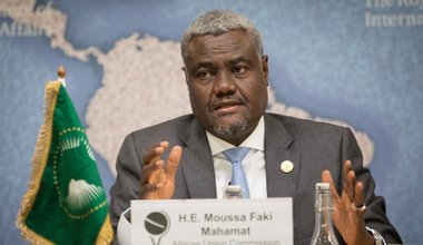 The Chairperson of the Commission of the African Union, Moussa Faki Mahama