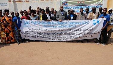 La Monusco soutient la mise en œuvre de projets de réduction de violence communautaire à Nyunzu