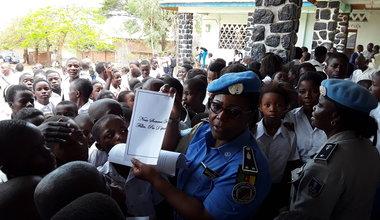 La MONUSCO sensibilise les jeunes filles sur les violences basées sur le genre