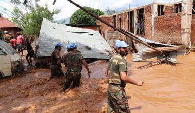 Inondations à Uvira : la MONUSCO engagées aux côtés des populations et des autorités. Photo MONUSCO/Force