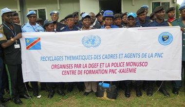 La MONUSCO initie une session de recyclage pour la Police nationale congolaise