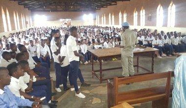 UNPOL sensibilise sur les violences sexuelles basées sur le genre a Bulengera/Butembo