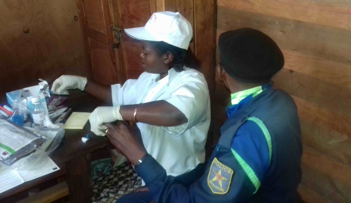 HIV/AIDS Section of MONUSCO holds a bold awareness campaign in Kitchanga