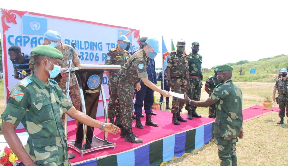 Ituri : la MONUSCO forme plus de 650 officiers et soldats congolais aux tactiques de combat dans la jungle. Photo MONUSCO/Force