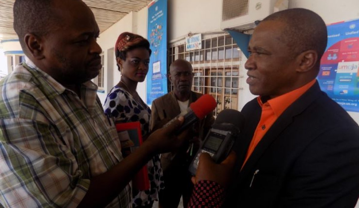 MONUSCO Director of Public Information Office meets with journalists in Kisangani
