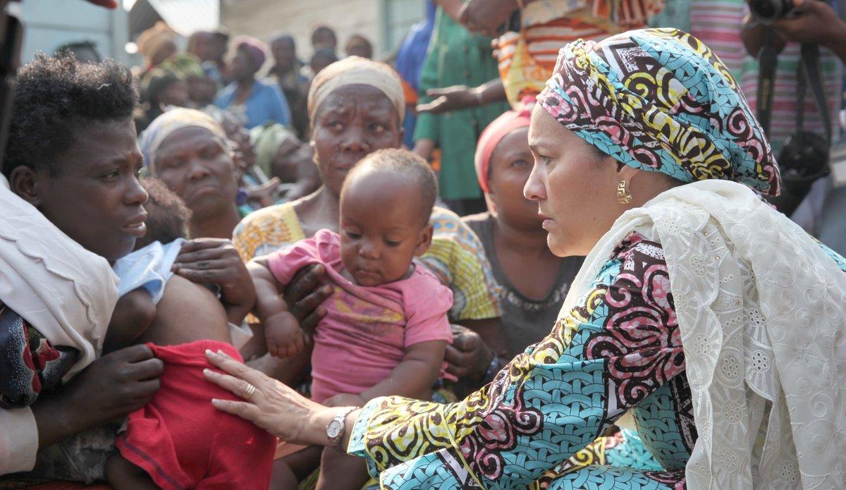 RDC : la Vice-Secrétaire générale promet aux femmes déplacées de les aider à revenir chez elles dans la dignité