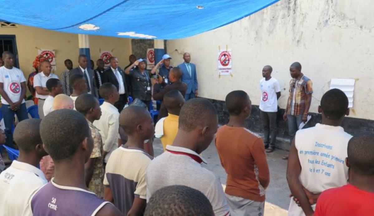 MONUSCO organizes meets with children detained in Kalemie prison