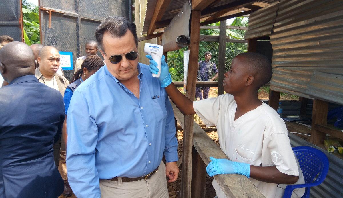David Gressly promet de mobiliser les partenaires de la RDC pour la lutte contre Ebola. Photo MONUSCO/Jean-Claude LOKY