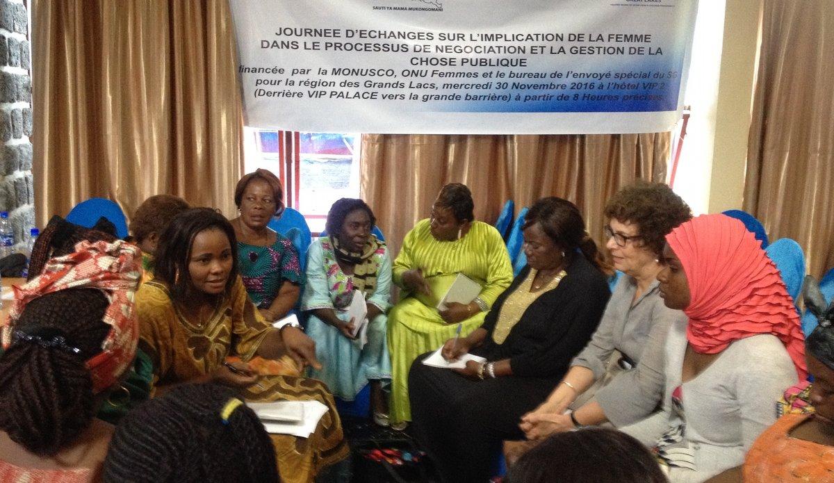 Journée d'échanges des femmes du Nord-Kivu sur l'implication des femmes politiques et de la société civile au processus de négociation de paix