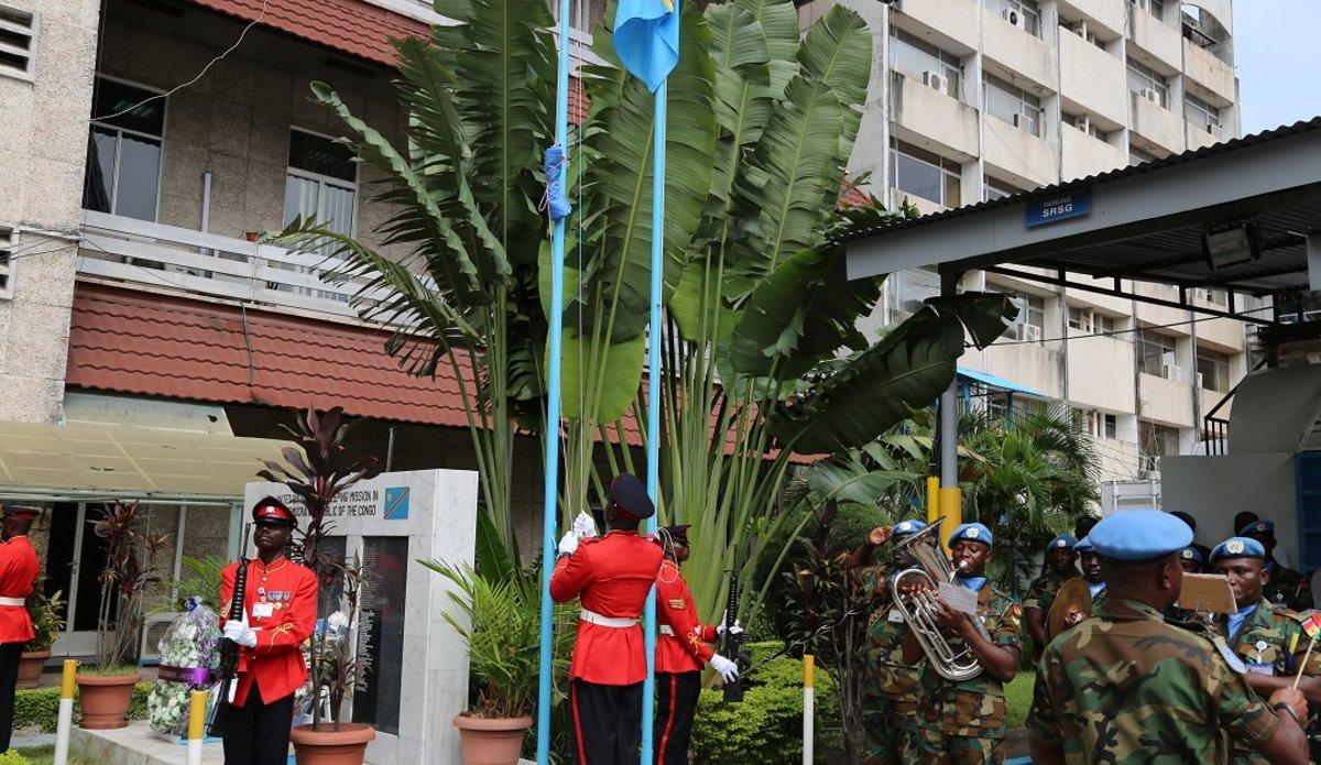 La MONUSCO commémore  la Journée internationale des Casques bleus