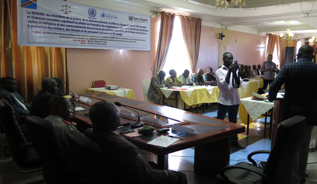 Le BCNUDH outille 35 Magistrats et Commandants des FARDC dans la lutte contre les violences sexuelles