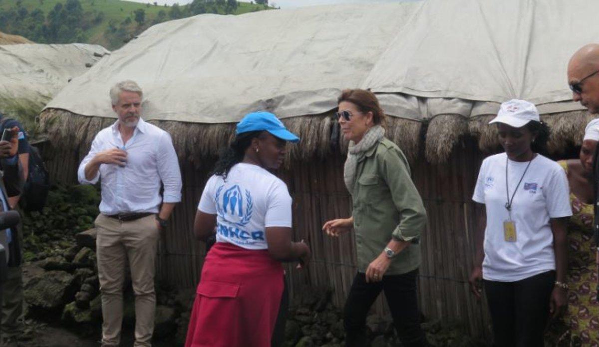 Visit of Princess Caroline of Monaco and Brazilian Ambassador to Kitchanga