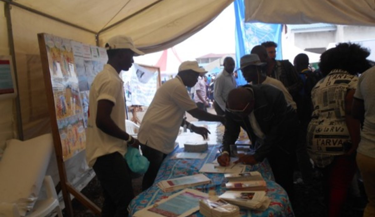 The HIV/AIDS Section of MONUSCO leads in the promotion of activities that connect shifting attitudes to HIV prevention among the youths in Goma