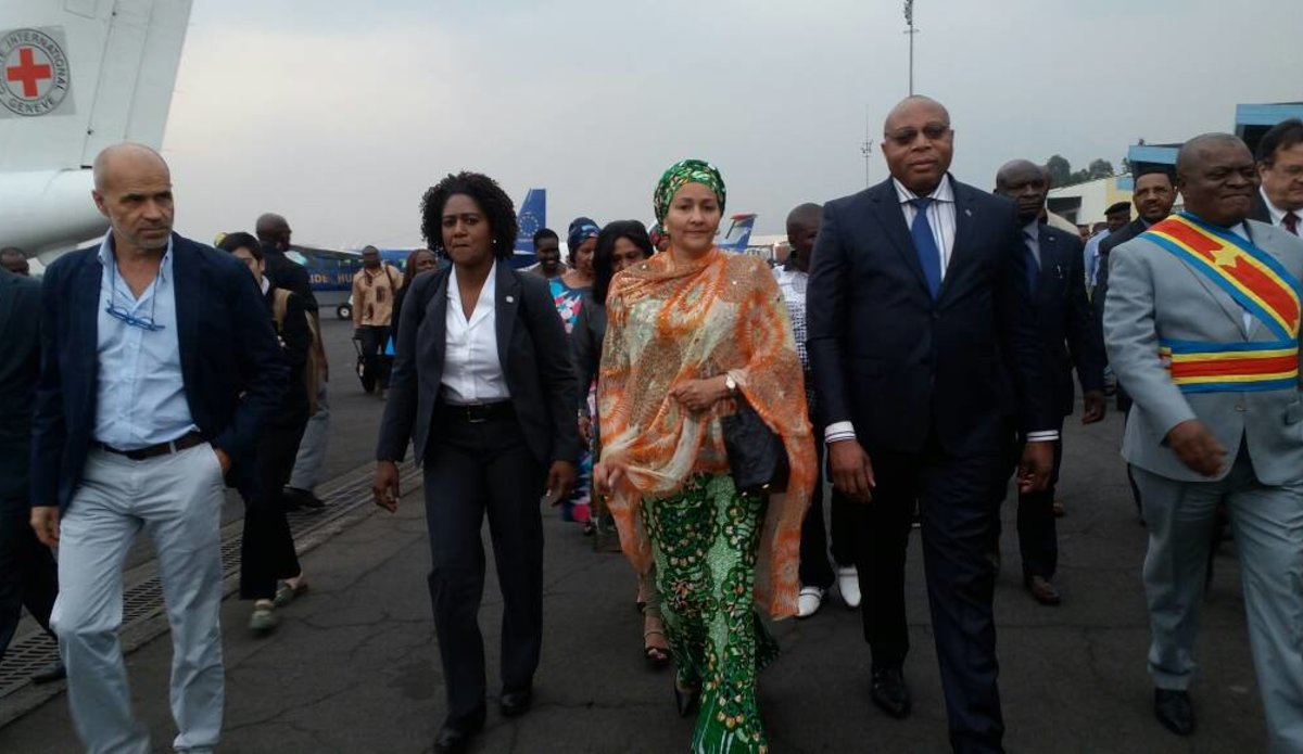 Mme Amina Mohammed et sa délégation sont arrivées à Goma