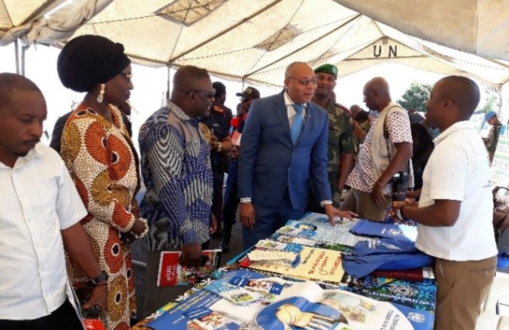 MONUSCO - CDT HQ exposition of outreach materials during the International Blue Helmets 'day celebration in Goma