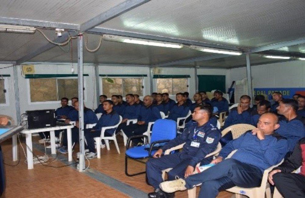 MONUSCO-FCDT Bunia raising awareness on SEA among uniformed personnel, April 2018.