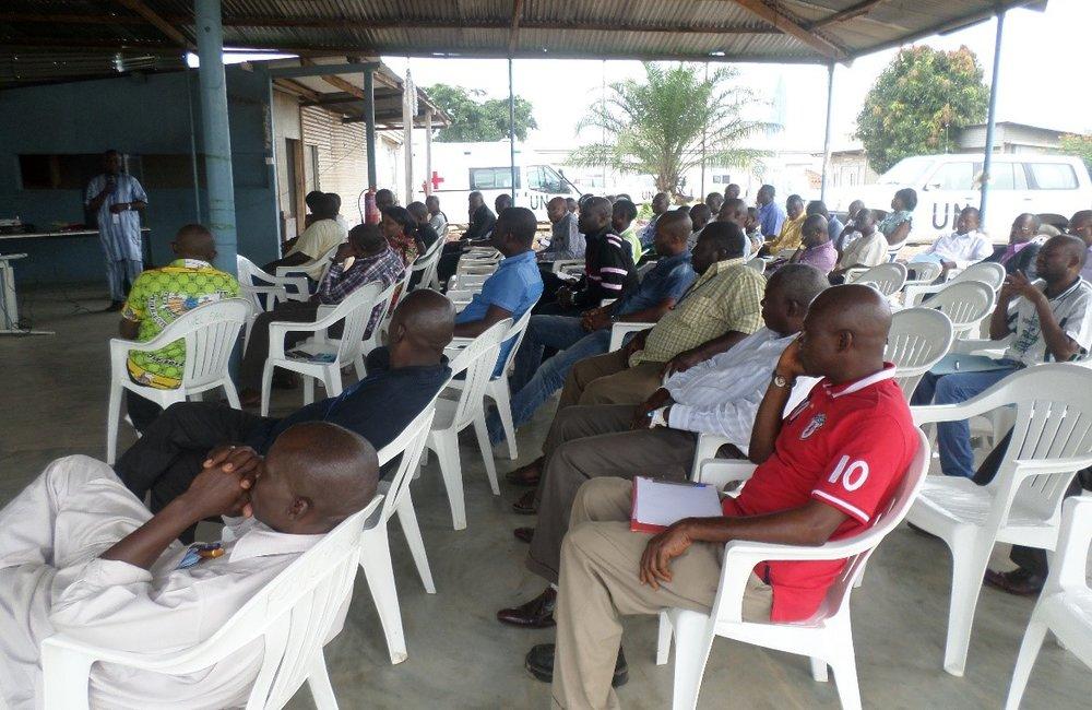 Formation des personnels civils sur les Standards de Conduite à Matadi, 2017