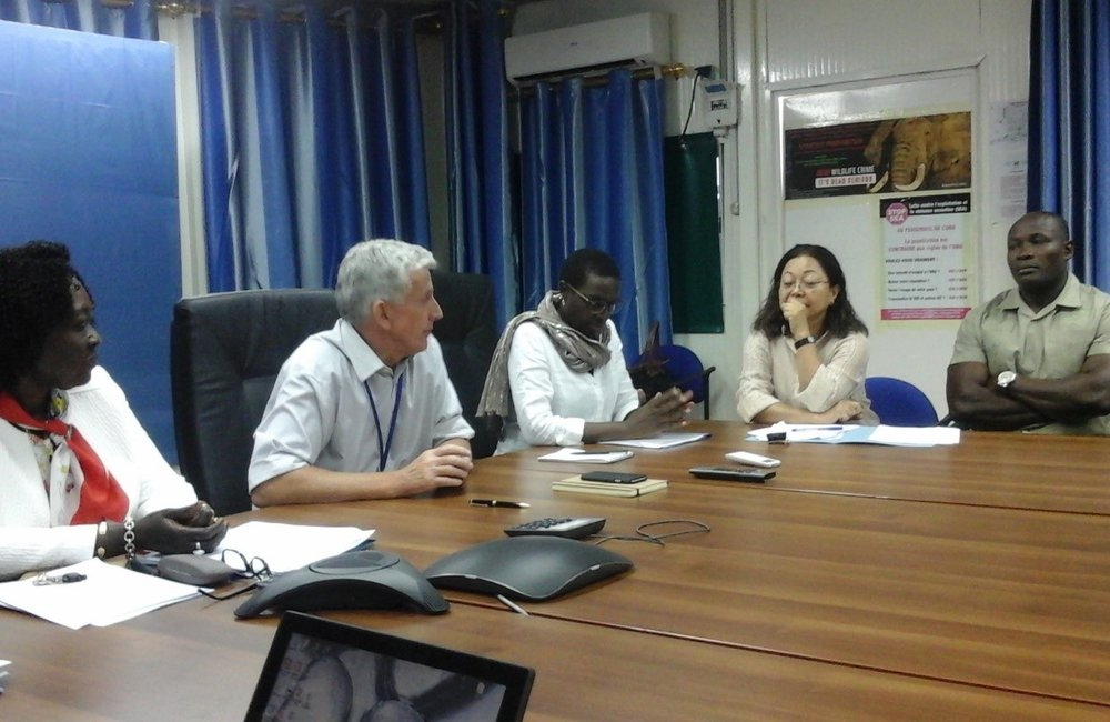La CDT en atelier avec la SEA Task Force de la mission échangeant sur la nouvelle stratégie pour combattre l'EAS. Goma, 2017