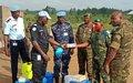 La Police MONUSCO sensibilise les FARDC sur les mesures de prévention contre Ebola