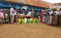 Journée internationale des casques bleus, la Police Monusco auprès des veuves et orphelins du camp militaire SAIO