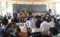 UNPOL sensibilise sur le rôle de la sécurité dans la lutte contre la maladie à virus Ebola