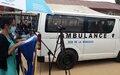 Ituri : La MONUSCO dote la prison centrale de Bunia de sa toute première ambulance