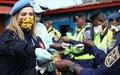 COVID-19: la MONUSCO sensibilise la police routière de Goma aux gestes barrières