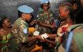 Les femmes casques bleus témoignent leur solidarité aux femmes de la région de Beni