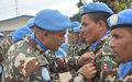178 Casques bleus décorés de la médaille des Nations Unies à Bunia