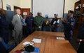 A Goma, François Grignon visite l'inspection provinciale et le commissariat provincial de la PNC
