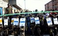 The United Nations Volunteers  organize a Tshukudu race in Goma (DRC) to celebrate solidarity