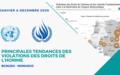 Principales tendances des violations des droits de l'homme – JANVIER A DECEMBRE 2020