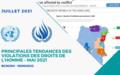 Principales tendances des violations des droits de l'homme – JUILLET 2021