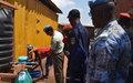 La Police MONUSCO impliquée dans la lutte contre l'épidémie d'Ebola à Beni
