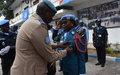 Près de 200 policiers de la MONUSCO décorés de la médaille des Nations Unies