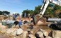 Uvira : La MONUSCO aménage un passage au niveau du pont cassé de Kawizi