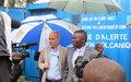 La MONUSCO offre une sirène d'alarme d'éruption volcanique à la ville de Goma